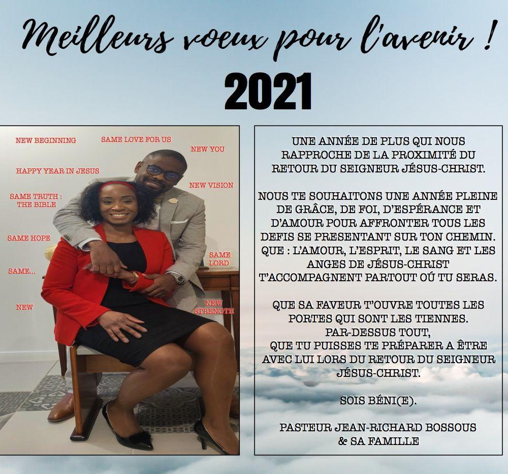 Meilleurs voeux 2021 ! pour l'avenir
